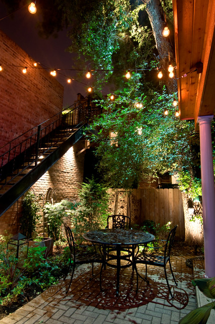 Chili Pepper Lights Exterior Traditional with Brick Column Exterior Lighting Fence Hardscape Landscape Landscape Lighting