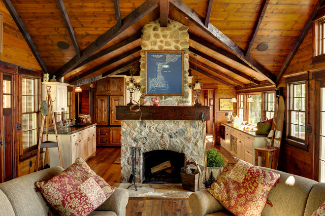 Chimney Liner Kit Living Room Rustic with Beams Cabin Exposed Beams Family Room Fireplace Fireplace Accessories