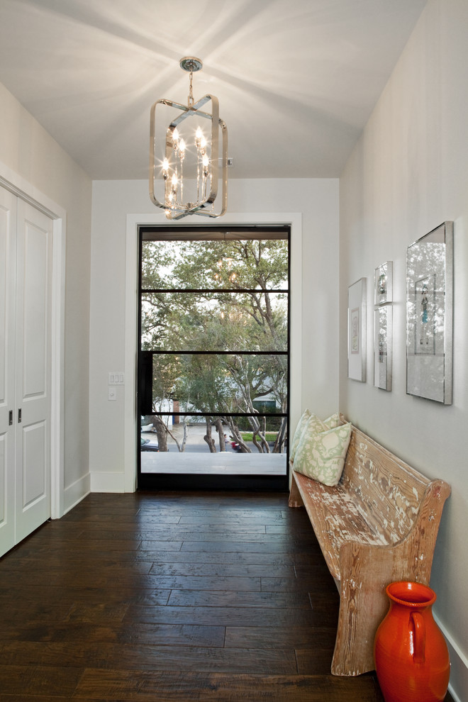 Church Pews for Sale Entry Contemporary with Artwork Chandelier Entry Closet Glass Door Red