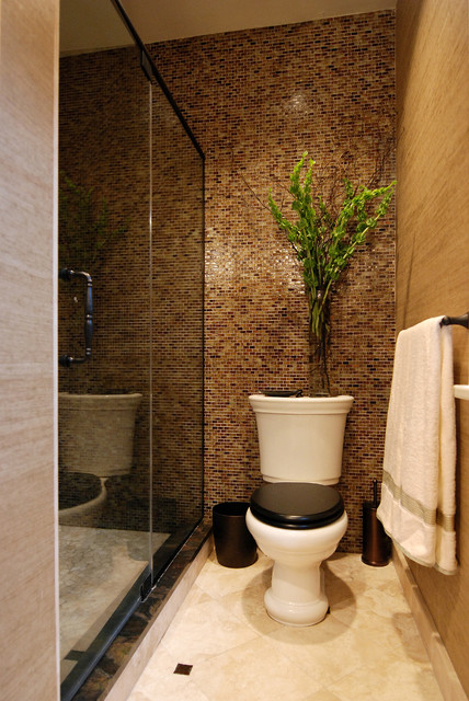 Church Toilet Seats Bathroom Traditional with Accent Wall Colored Toilets Floor Tile Design Floral Arrangement