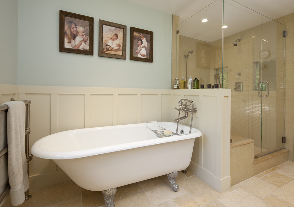 Claw Foot Tub Bathroom Traditional with Board and Batten Claw Foot Tub Freestanding