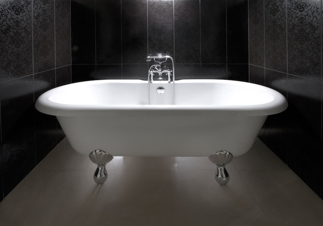 clawfoot-tub-faucet-Bathroom-Contemporary-with-alcove-bath-fixtures ...