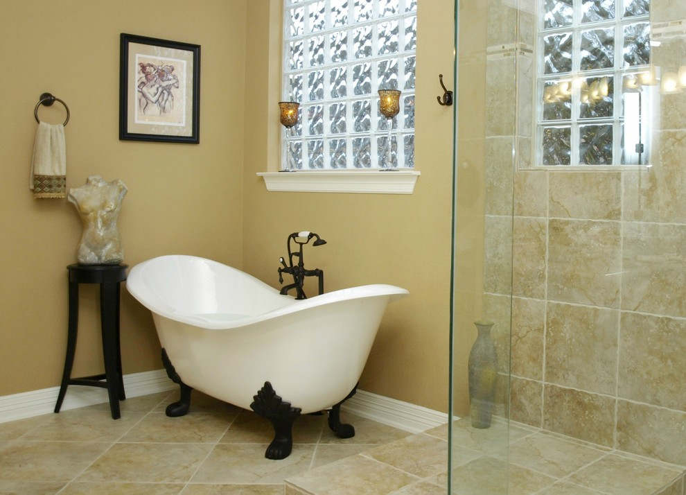 Clawfoot Tubs Bathroom Traditional With Clawfoot Tub Frameless Shower  Freestanding Tub Glass