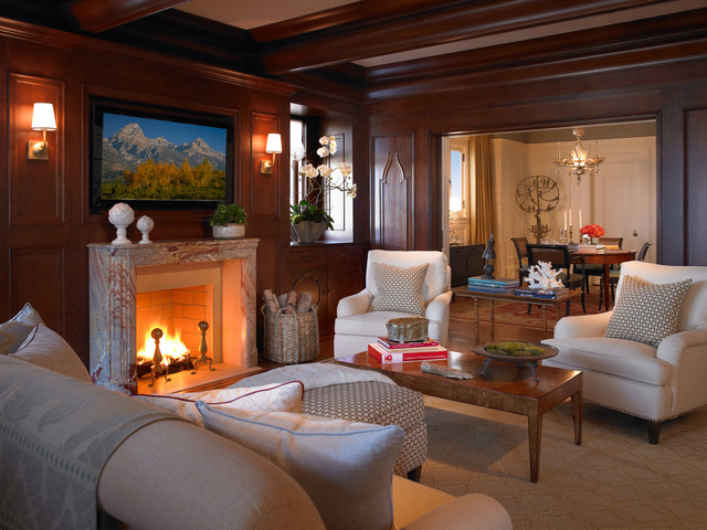 Club Chair Slipcovers Family Room Traditional with Decorative Pillows Exposed Beams Fireplace Accessories Fireplace Mantel Firewood