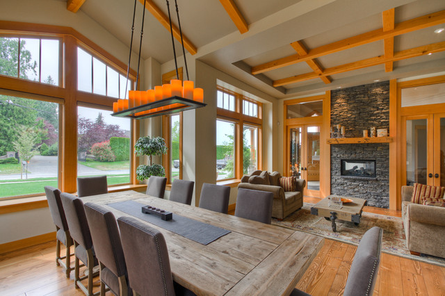 Commercial Picnic Tables Dining Room Traditional with Brown Sofa Candle Chandelier Double Glass Door Gray Dining