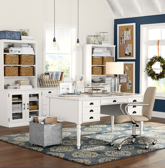 computer-desk-hutch-Home-Office-Craftsman-with-area-rug-Arts-and ...
