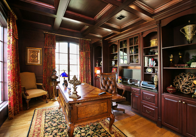 Computer Desk Hutch Home Office Traditional with Antique Desk Built in Cabinets Built in Desk Cabriole Legs Carved