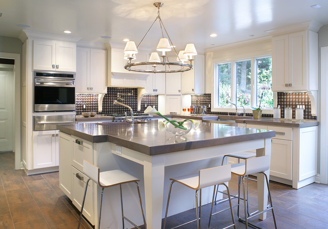 Concrete Resurfacing Products Kitchen Contemporary with Breakfast Bar Ceiling Lighting Chandelier Shades Eat in Kitchen