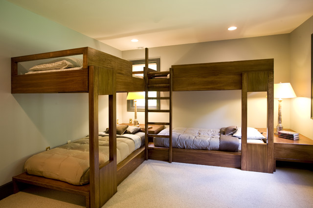 cool-bunk-beds-for-sale-Bedroom-Rustic-with-beige-wall-blue ...