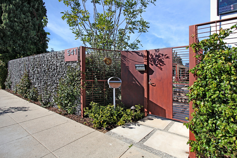 Cool Mailboxes Landscape Contemporary with Concrete Fence Gate House Numbers Mailbox Metal