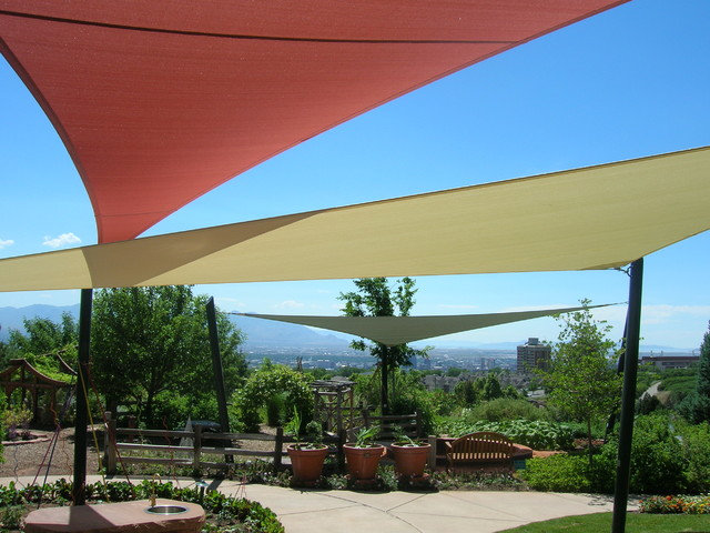 Coolaroo Shade Sails Patio Eclectic with Hillside Patio Cover Patio Covers Potted Plants Shade Sails