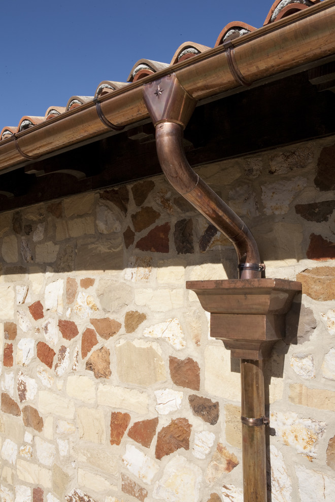Copper Gutters Spaces Mediterranean with Categoryspacesstylemediterraneanlocationunited States