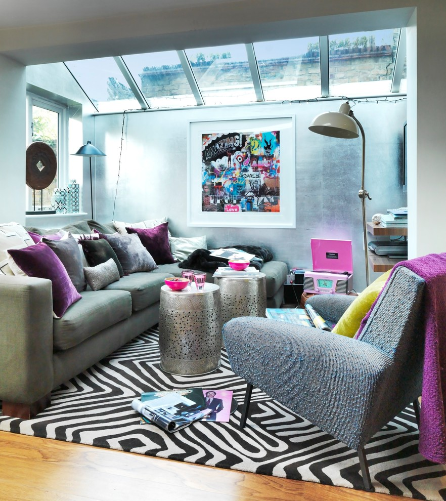 Corduroy Couch Living Room Contemporary With Animal Print Artwork