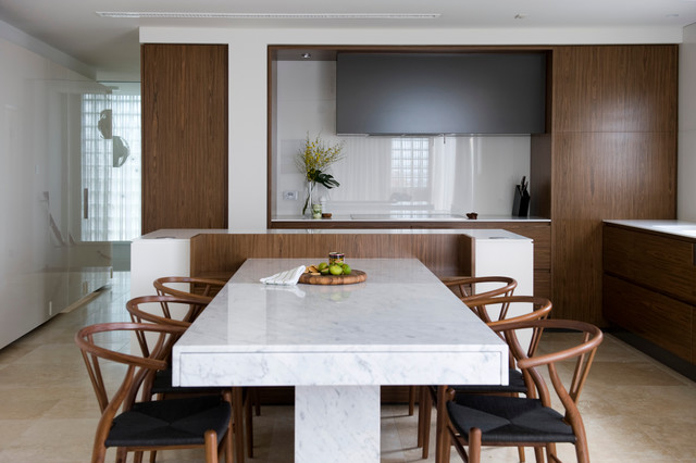 Corian Countertops Kitchen Contemporary with Beige Stone Floor Corian Countertop Custom Dining Table High Gloss