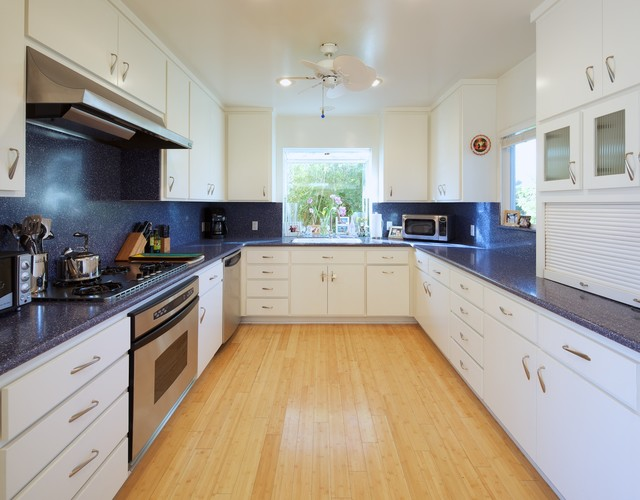 Corian Countertops Cost Kitchen Contemporary with Blue Countertops Ceiling Fan Ceiling Lighting Glass Front Cabinets