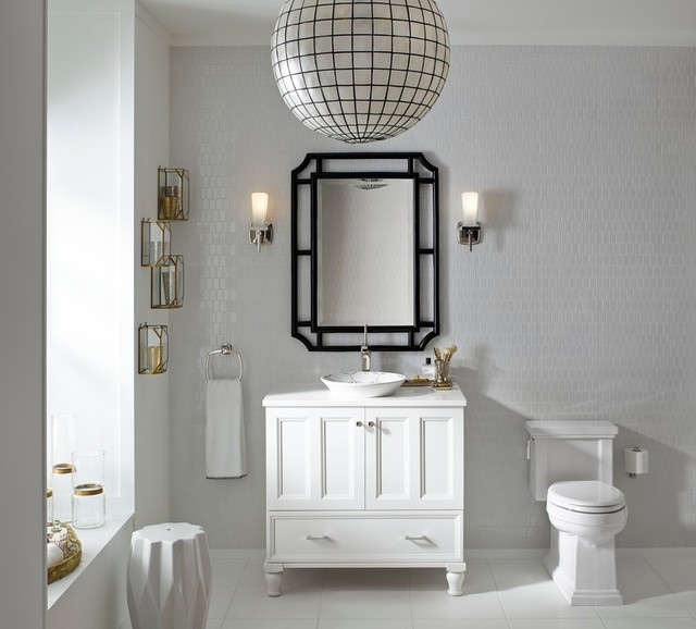 Cork Board Tiles Bathroom Eclectic with Bathroom Furniture Bathroom Mirrors Brass Accessories Gold Lighting Tile