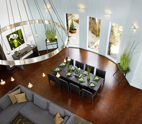 Cork Flooring Pros and Cons Dining Room Contemporary with Cork Flooring 1