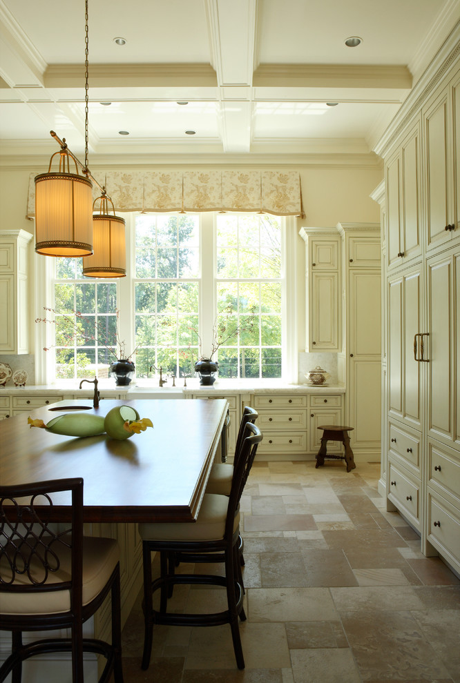 cork flooring pros and cons Kitchen Traditional with antique brass cabinet knobs beams box beam
