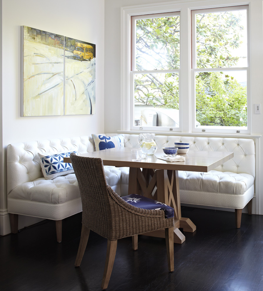 Corner Banquette Kitchen Traditional with Banquette Blue Accessories Breakfast Nook Corner Seating