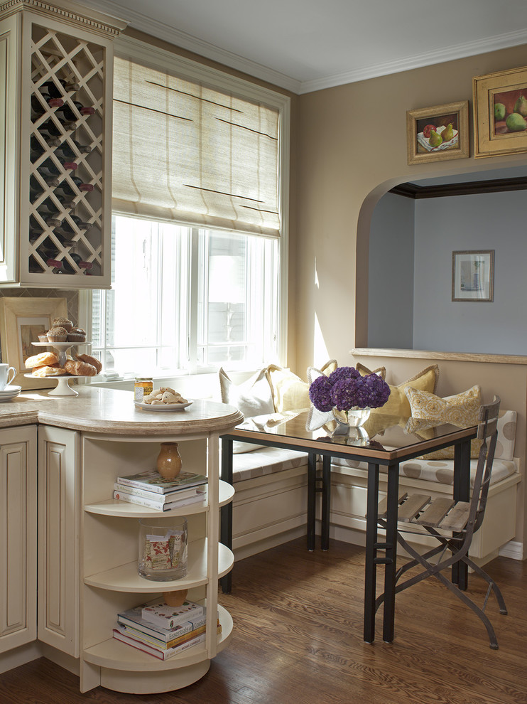 Corner Banquette Kitchen Traditional with Banquette Breakfast Nook Cafe Chair Curved Shelves