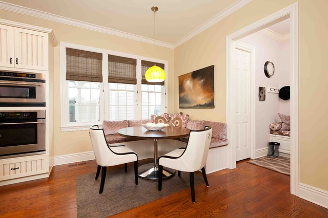 Corner Bench Kitchen Table Kitchen Traditional with Banquette Beadboard Cabinets Breakfast Nook Breakfast Room Built in Banquette