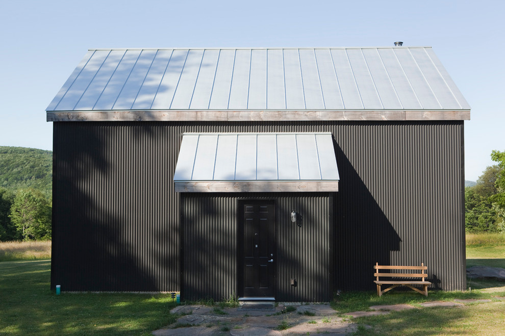 Corrugated Metal Siding Exterior Rustic with Barn Black Door Black House Corrugated Metal1