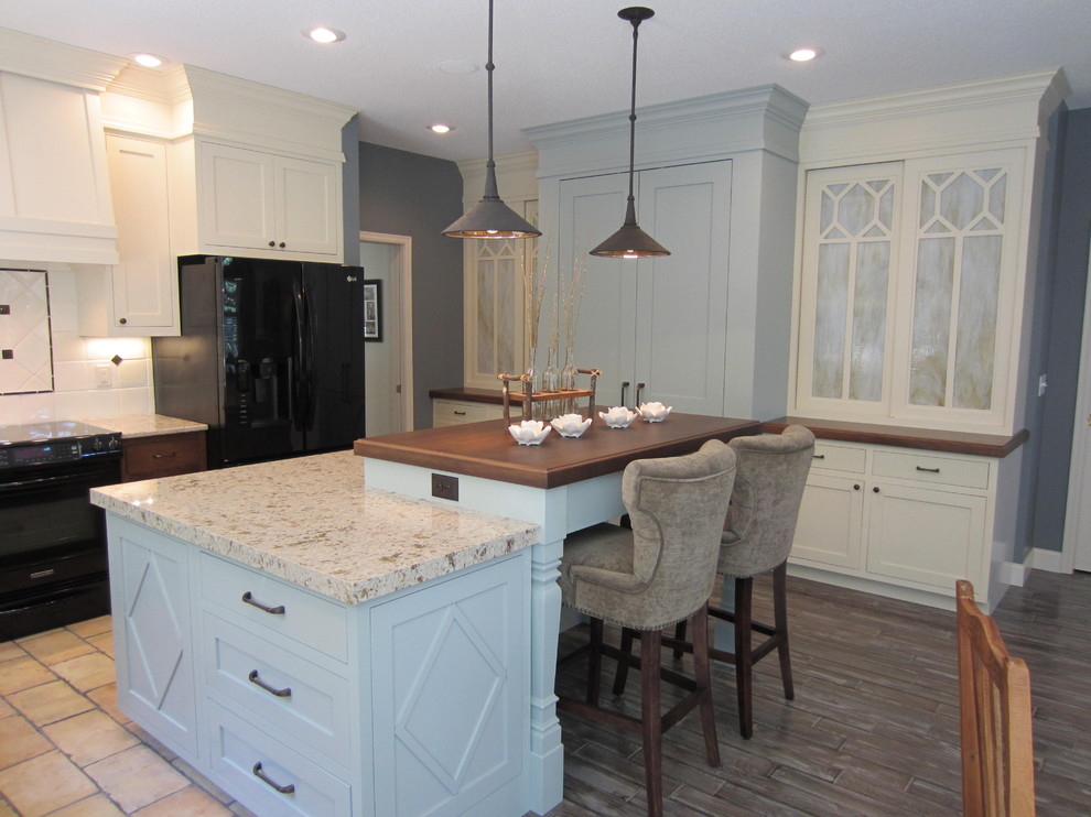 Cost of Quartz Countertops Kitchen Traditional with Black Appliances Cornice Counter Stools Crown Molding