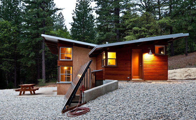 Cost of Tankless Water Heater Exterior Rustic with Arkin Tilt Architects Butterfly Roof Cabin Earth Cement on Bale
