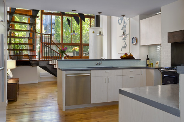 Countertop Dishwashers Kitchen Modern with Addition Aga Stove Black Stove Blue Countertop Concealed Hood