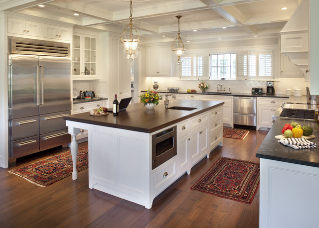 Countertop Dishwashers Kitchen Traditional with Area Rugs Brass Pendant Lights Bright Kitchen Butcher Block