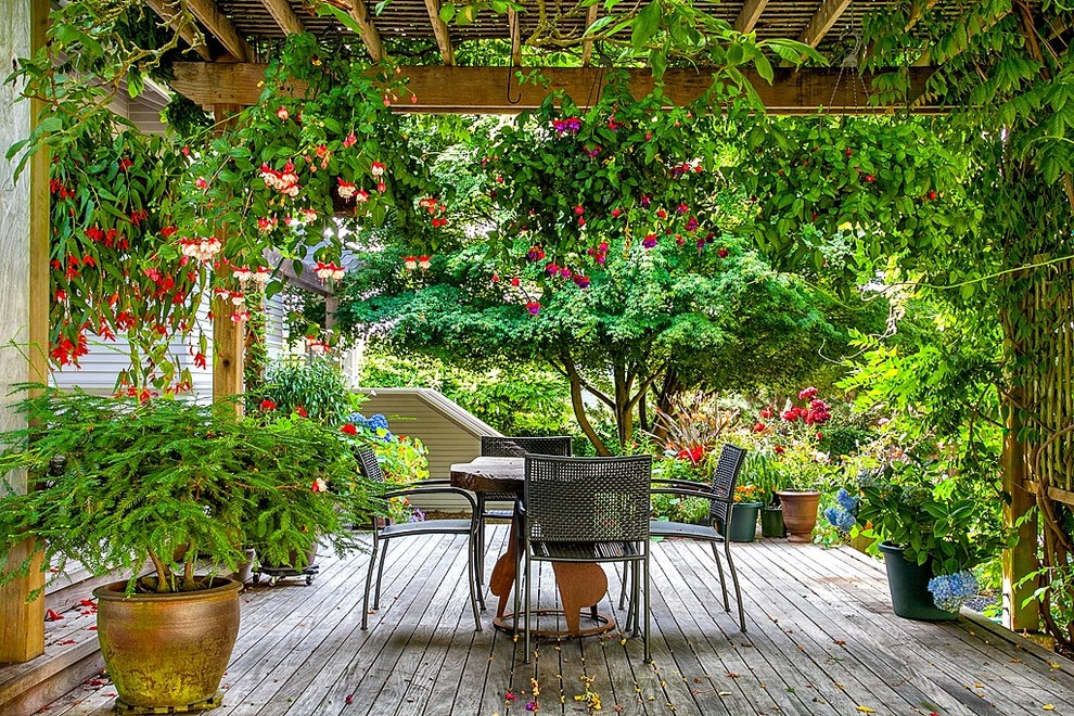 covered pergola Deck Traditional with covered patio Covered Pergola Craftsman Exterior oasis