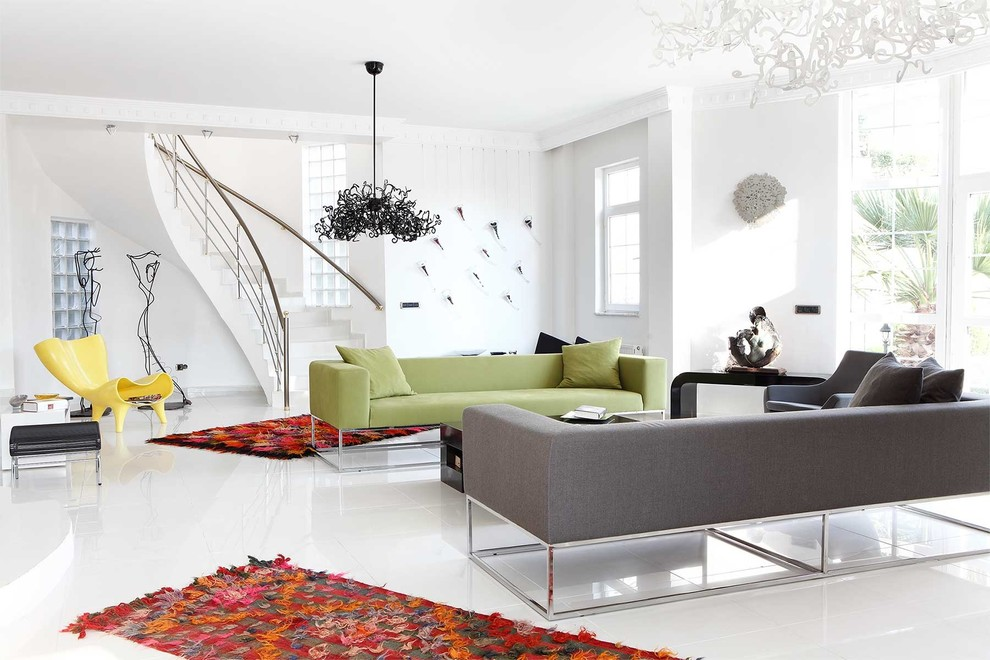 Cream Shag Rug Living Room Contemporary with Black Chandelier Boucherouite Rugs Brightly Colored Rug