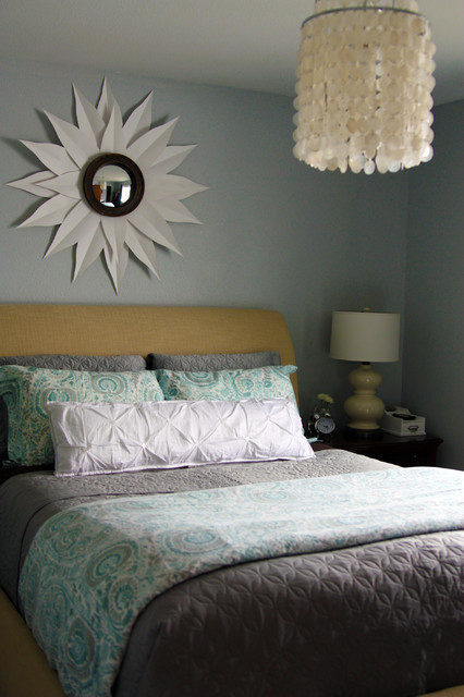 croscill bedding sets Bedroom Traditional with capiz chandelier gourd lamp paisley bedding sleigh bed sunburst