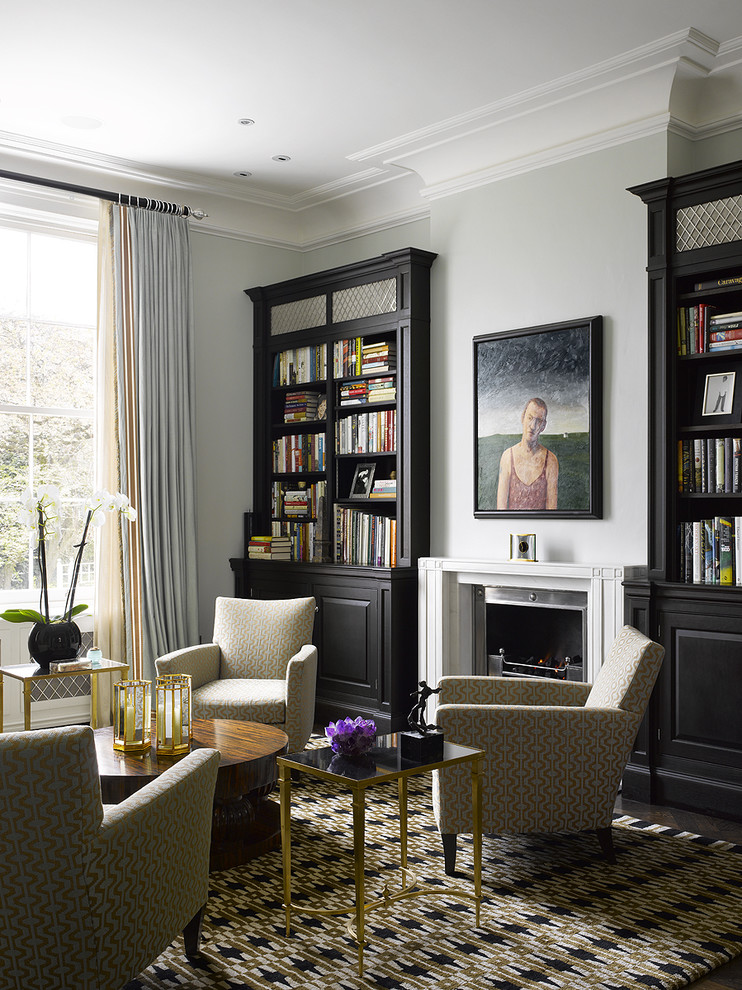 Crown Molding Styles Living Room Contemporary with Artwork Bookcase Bookshelves Ceiling Lighting Crown Molding