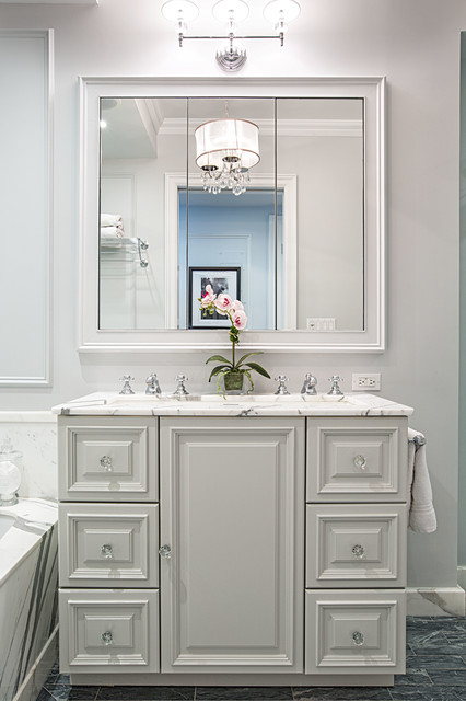 Crystal Cabinet Knobs Bathroom Traditional with Crystal Knobs Doorway Framed Mirror Pendant Light Sconce Sink