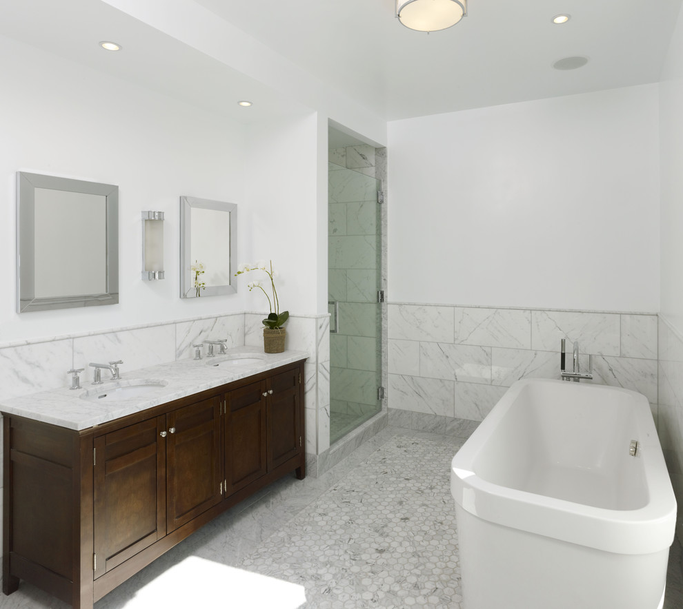 Cultured Marble Vanity Tops Bathroom Contemporary with Ceiling Lighting Dark Wood Double Sinks Double