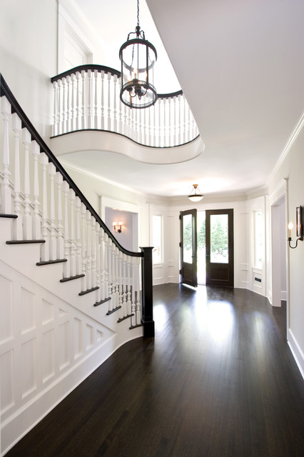 Currey Company Entry Traditional with Curves Dark Floor Double Doors Entrance Entry Foyer Lantern