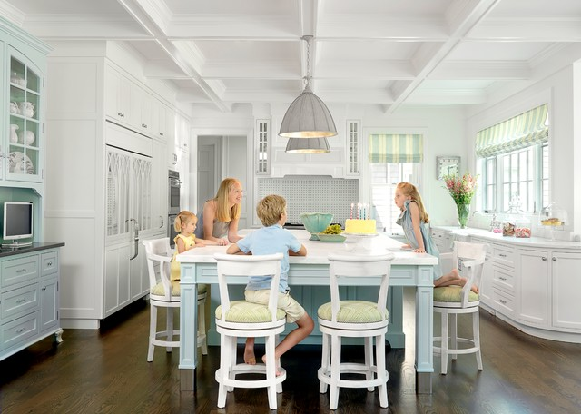 Currey Company Kitchen Traditional with Bar Stool Cabinets Coffered Ceiling Counters Eat in Family Kitchen