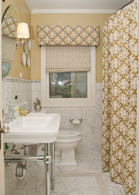 Curtains with Valance Bathroom Traditional with Bathroom Mirror Crown Molding Decorative Cornice Decorative Shower Curtain
