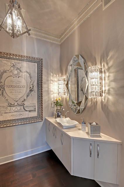 cyan-lighting-Powder-Room-Transitional-with-chandelier-floating ...