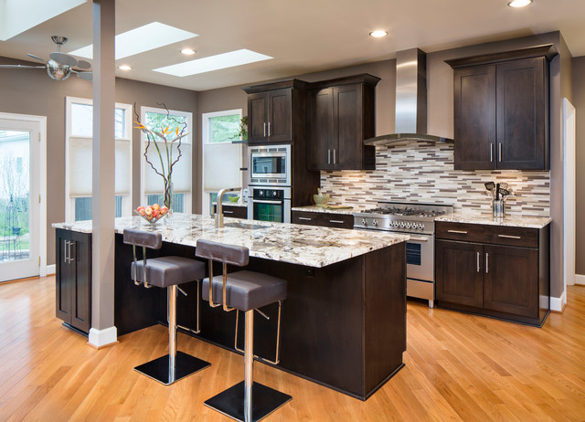 daltile-granite-Kitchen-Transitional-with-bar-stools-ceiling ...