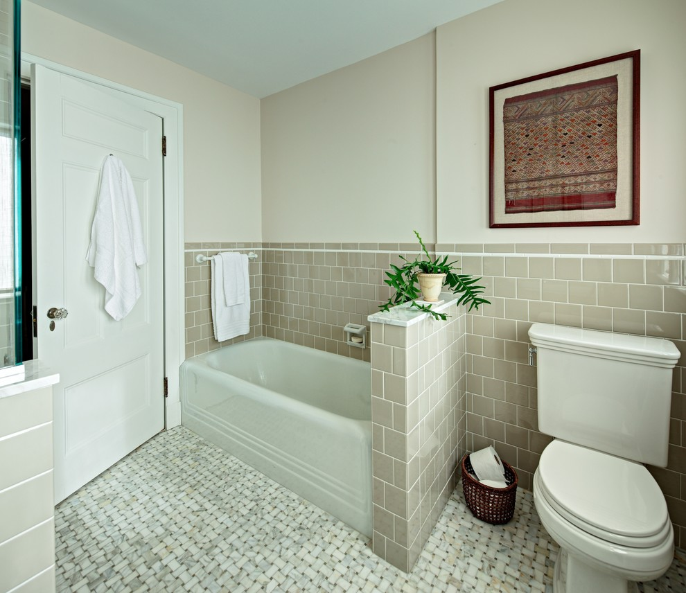 Daltile rittenhouse bathroom contemporary with blue tile bathroom daltile rittenhouse bathroom traditional with 4x4 tile alcove tub basketweave floor tile dailygadgetfo Images