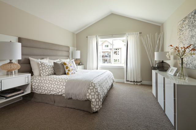 Dalworth Carpet Cleaning Bedroom Transitional with Bamboo Posts Beige Headboard Beige Padded Headboard Beige Patterned