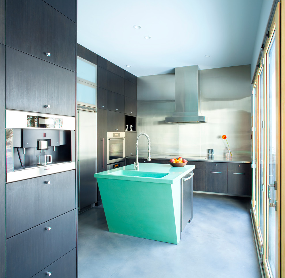 danze-faucets-Kitchen-Contemporary-with-concrete-floating-cabinets ...