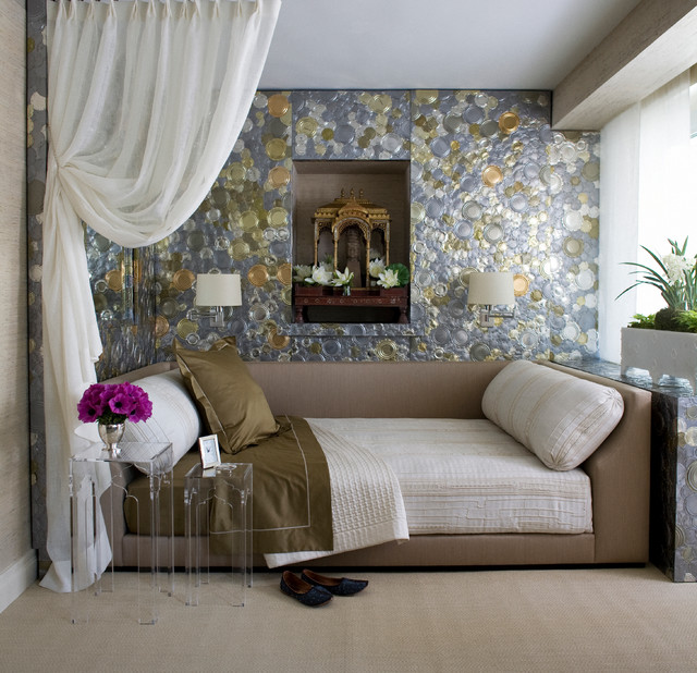 daybed comforters Bedroom Transitional with daybed exotic bedroom glamorous room glittery room gold Gold