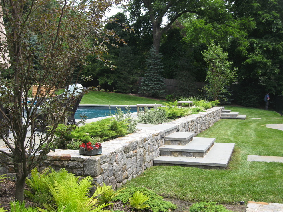 Decks for Above Ground Pools Pool Eclectic with Deck Ferns Landscape Lawn Lounge Chairs Mature