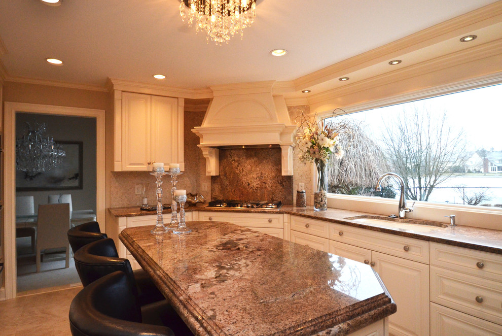 Decomposed Granite Cost Kitchen Traditional with African Ivory Granite Built Up Edge Profile
