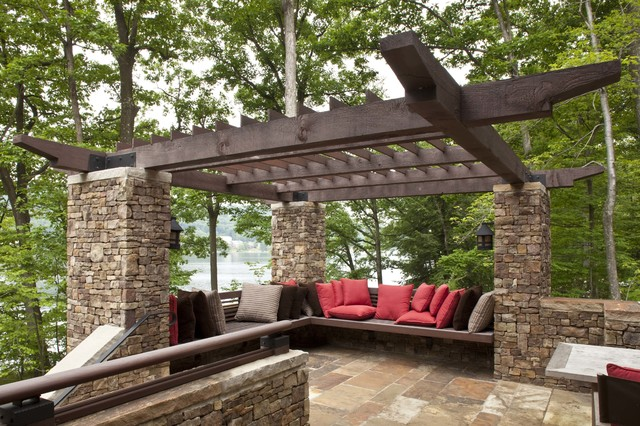 Deep Seat Outdoor Cushions Deck Rustic with Adirondack Arts and Crafts Built in Bench Cantilever Craftsman Cross