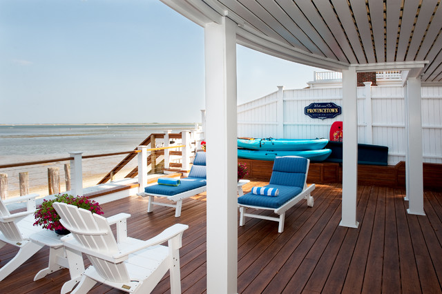 defy deck stain Deck Beach with Adirondack chairs chaise lounge coastal covered porch deck patio