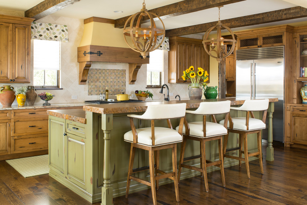 Delta Cassidy Kitchen Transitional with Bar Height Countertop Breakfast Bar Colorado Exposed
